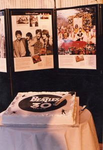 The cake to celebrate the 30th anniversary of Love Me Do - as designed by Jane Asher!