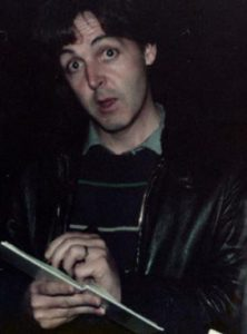 Paul McCartney at Abbey Road Studios, October 5th 1982, the 20th anniversary of the release of Love Me Do