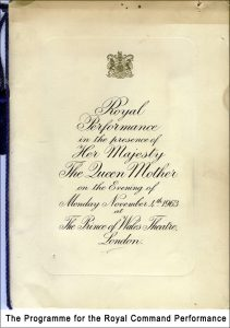 The programme for the Royal Command Performance