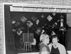 The Beatles Onstage at the Aldershot Palais 8th December 1961 - 1/9th of the total audience!