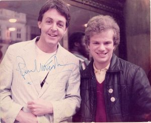 Me with Paul McCartney 1982