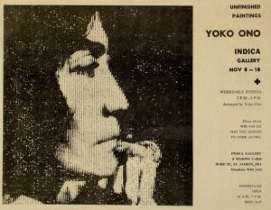 An ad for Yoko exhibition - showing the start date of November 8th