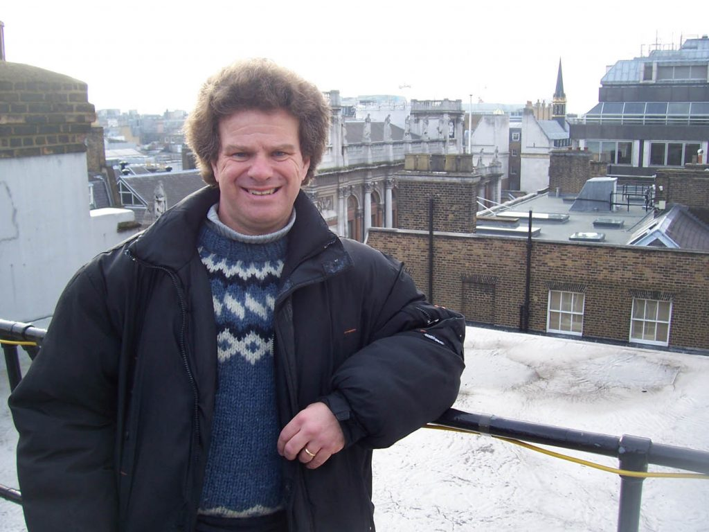 Blogger Richard Porter on the roof of 3 Savile Row - 30th January 2009