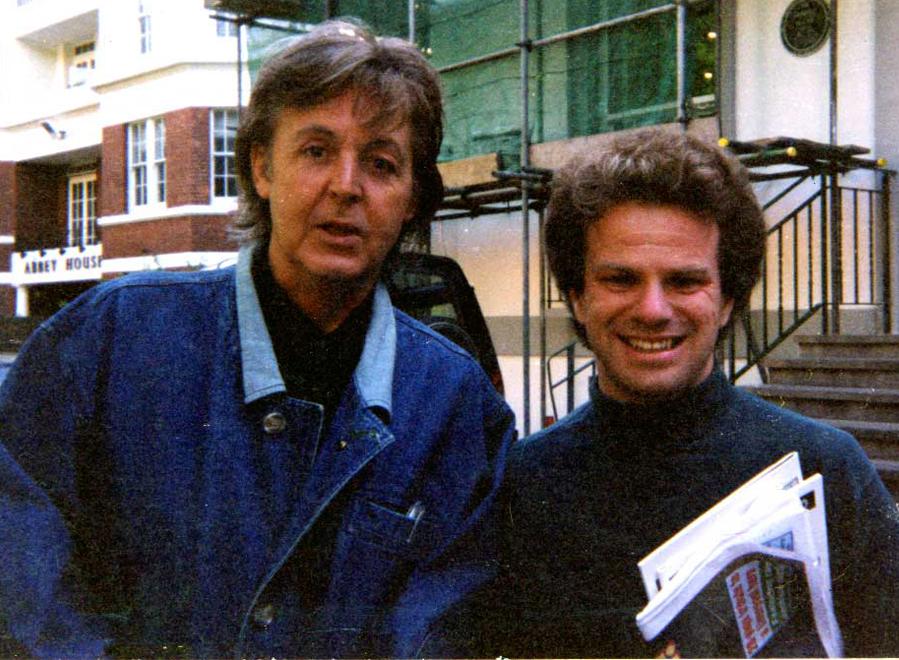 Richard Porter with Paul McCartney, Abbey Road, 1997