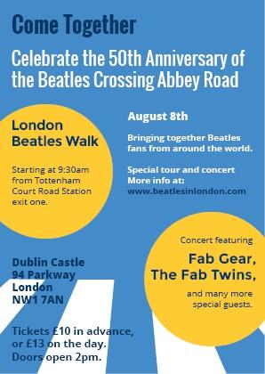 The Beatles Polska: Fani z całego świata będą świętować 50. rocznicę przejścia Beatlesów na Abbey Road