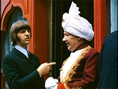 Ringo and Easterner in Beatles film Help!