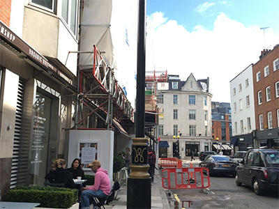 Site of the restaurant featured in Beatles film Help! today