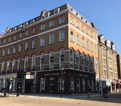 The site of the Beatles Apple Shop in Baker Street, London