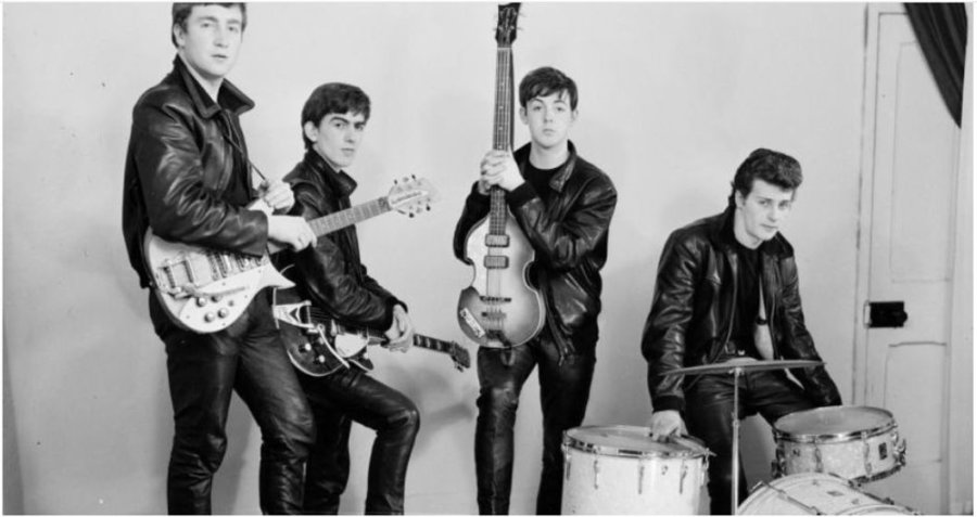 The Beatles with Pete Best in Liverpool