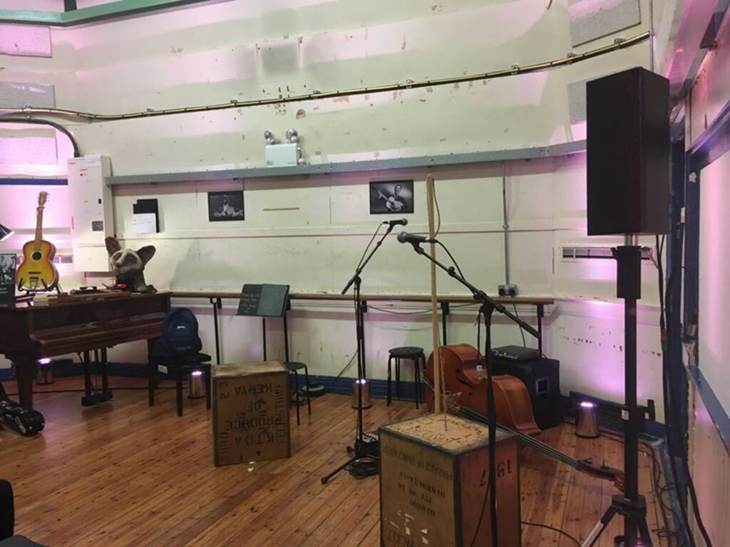 Studio 2 at Decca - where the Beatles failed their audition, and Lonnie Donegan recorded 'Rock Island Line'