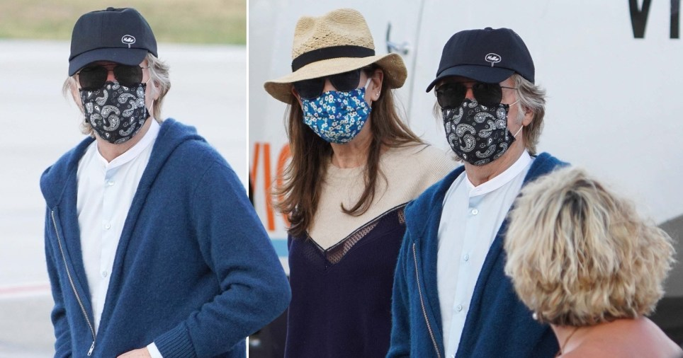 Paul McCartney wearing a facemask in St Barts