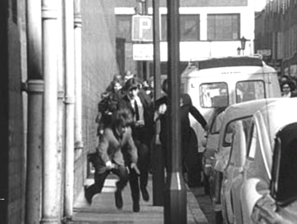 The Beatles in A Hard Day's Night motion picture