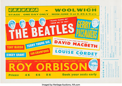 Woolwich Granada concert poster