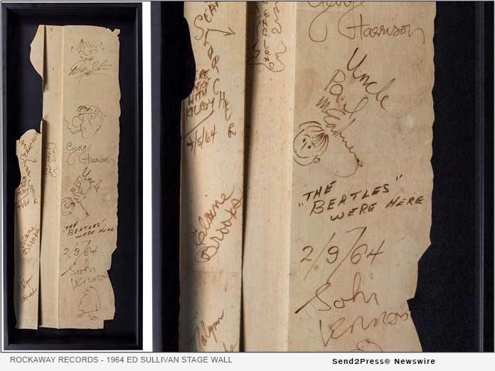 Beatles Ed Sullivan Show autographs