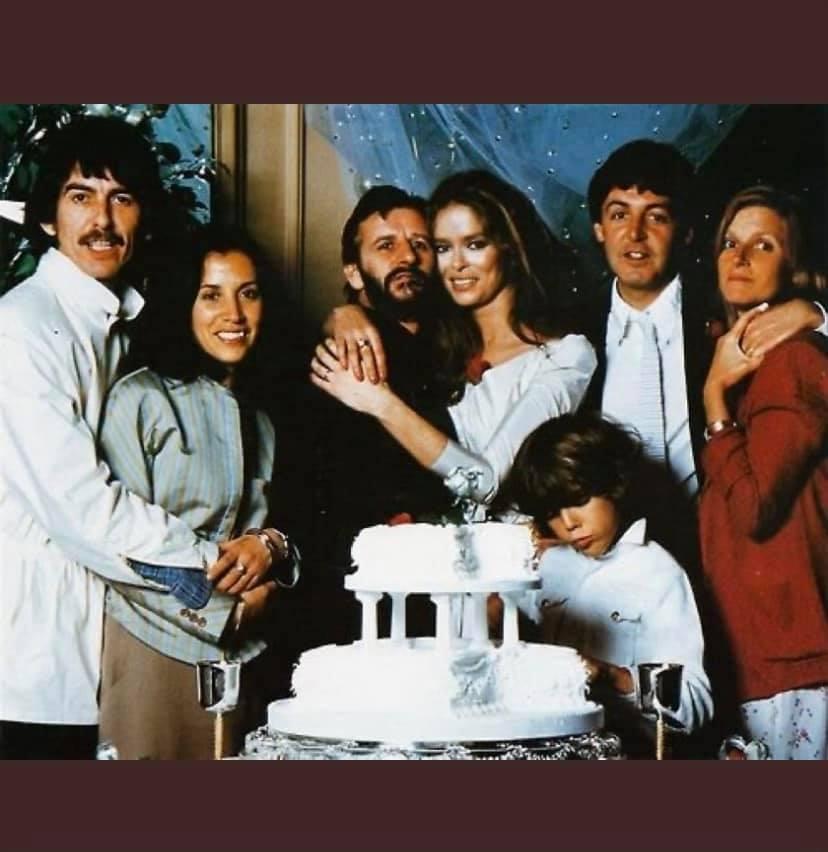 Ringo Starr, Barbara Bach wedding, George Harrison and Paul McCartney