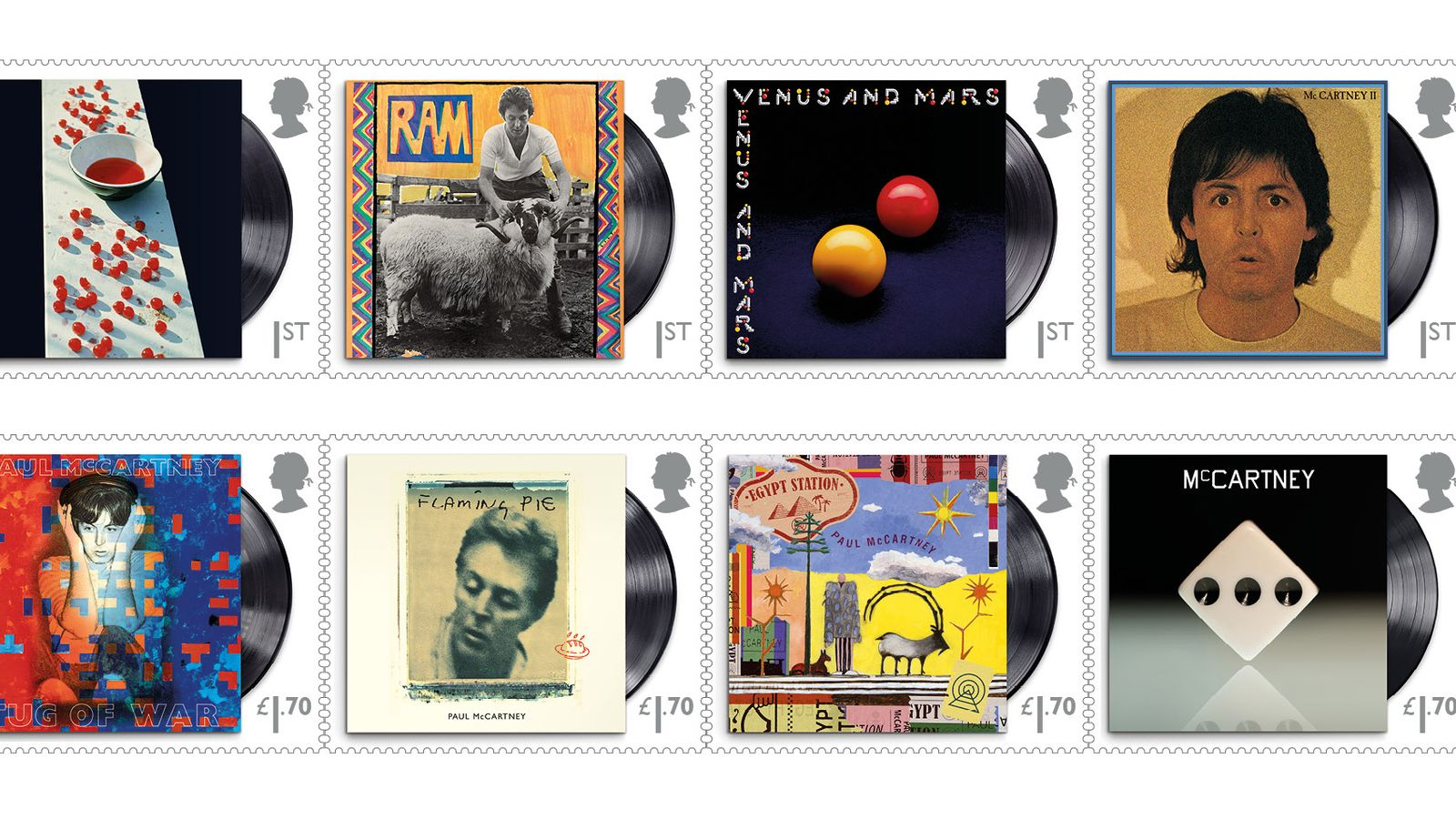 Paul McCartney Postage Stamps