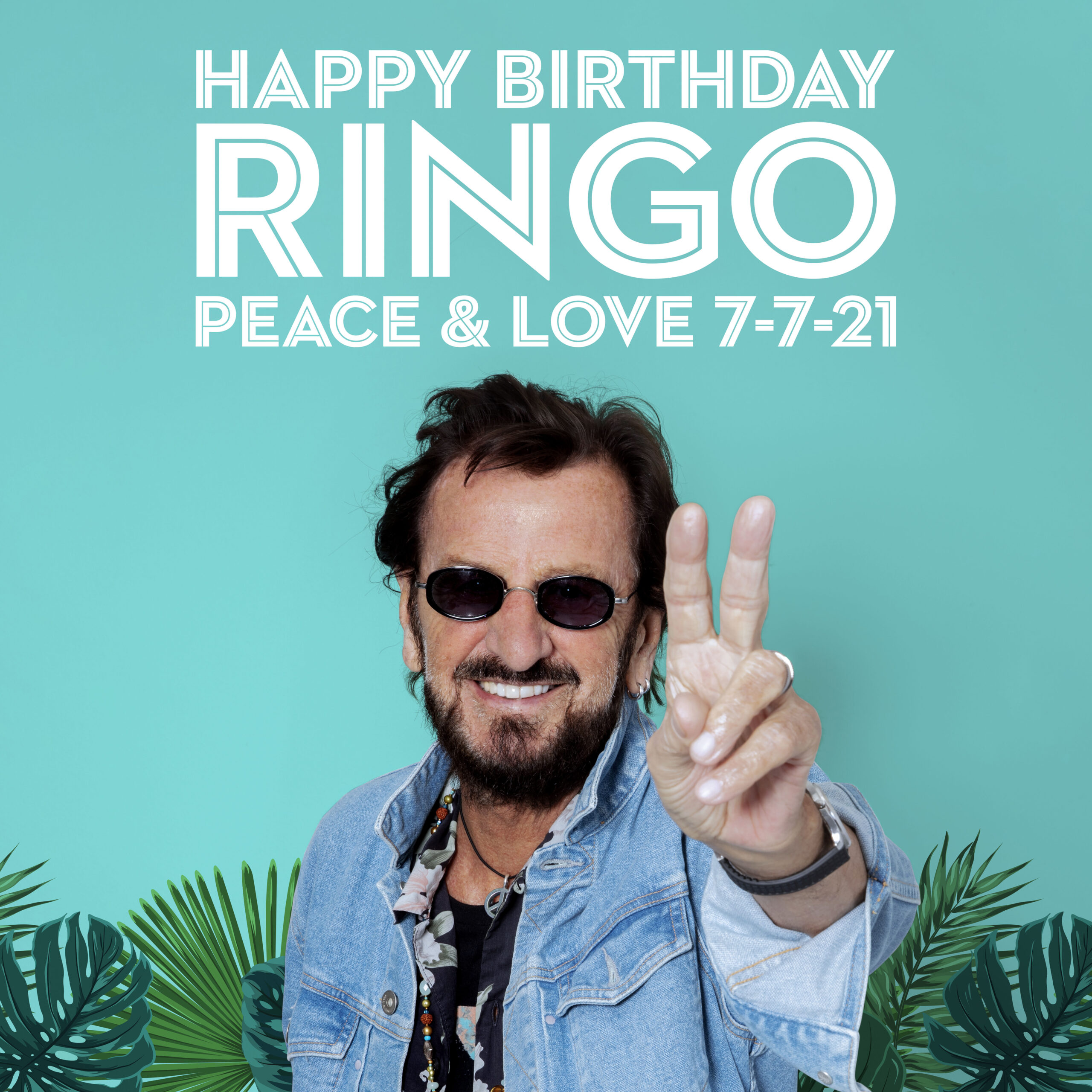 Ringo Starr Peace and Love on his birthday
