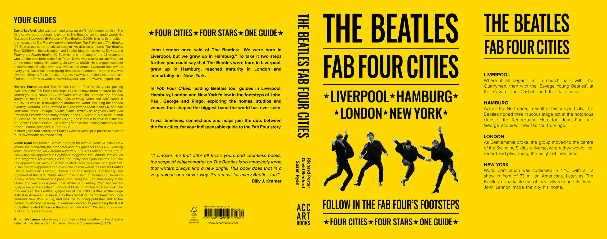 The Beatles Fab Four Cities - Liverpool, Hamburg, London and New York