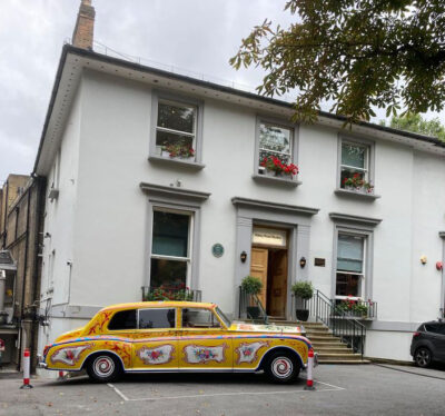 John Lennon's Rolls Royce Car outside Abbey Road Studios to celebrate the 50th Anniversary of Imagine
